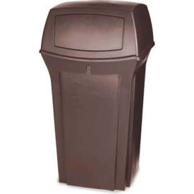 Rubbermaid Ranger® 35 Gallon 2 Door Outdoor Trash Can - Brown 8430-88