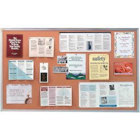 """Ghent® Cork Bulletin Board - Aluminum - 96""""W X 48""""H"""