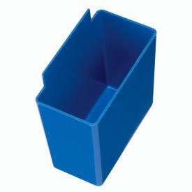 Quantum Little Bin QBC111 For Plastic Stacking Bins - 1-3/4 x 3-1/4 x 3 Blue - Pkg Qty 48