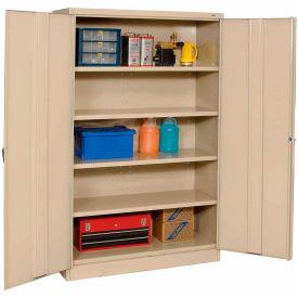 Tennsco Jumbo Storage Cabinet J1878A-N-SND - Unasseembled, 48x18x78 Sand