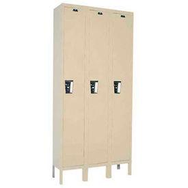 Hallowell UY3588-1A-PT Locker Single Tier 15x18x72 3 Door Assembled Parchment