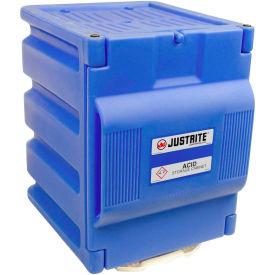 """Justrite 2 x 4 Liter Bottle,1 Door, Countertop, Poly, Acid Storage Cabinet,14-1/4""""x 16-1/4""""x 19-1/2"""""""