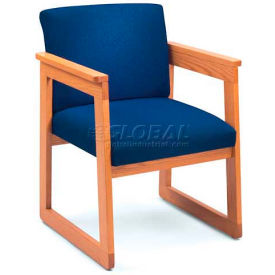 Lesro® Classic Close Back Flared Arm Chair, Core Eve Fabric/Mahogany Frame