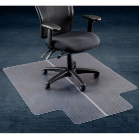 "46""W x 60""L Chair Mat w/ 25"" x 12"" Lip for Carpeted Floor"