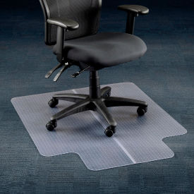 """Office Chair Mat for Carpet - 36""""W x 48""""L  with 20"""" x 10"""" Lip - Straight Edge"""