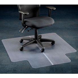 "45""W x 53""L Chair Mat w/ 25"" x 12"" Lip for Carpeted Floor"