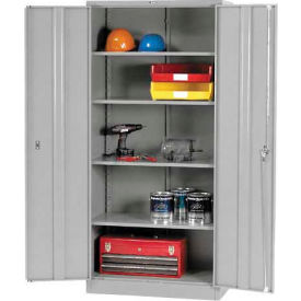 Paramount™ Storage Cabinet Easy Assembly 36x18x78 Gray