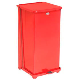 Fire Safe Step On Metal Trash Cans, 24 Gallon