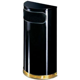 Half Round Trash Container With Flat Lid