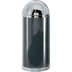 Round Trash Container With Swing Top Lid