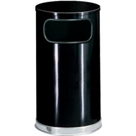 Round Trash Container With Flat Lid 12 Gallons