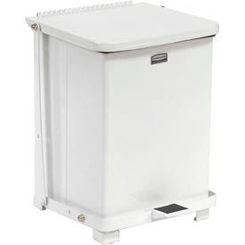 Rubbermaid St7erb Defenders Fire Safe Step On Metal Trash Cans 7 Gallon