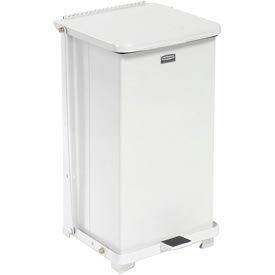 Rubbermaid® ST12ERB Defenders® Fire Safe Step On Metal Trash Cans, 12 Gallon, White
