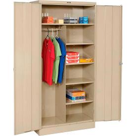 Tennsco Combination Industrial Storage Cabinet 1872 214 - 36x18x78 Sand