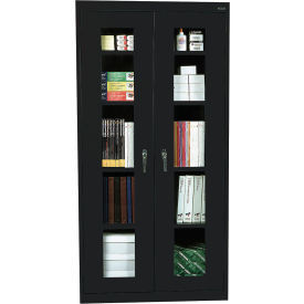Sandusky Clear View Storage Cabinet CA4V362472 -36x24x72, Black