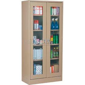 Sandusky Clear View Storage Cabinet CA4V362472 -36x24x72, Putty