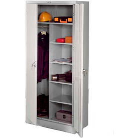 Tennsco Industrial Combination Storage Cabinet 7820-LGY - 36x24x78 Light Grey