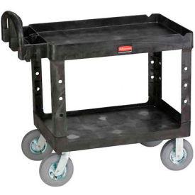 "Rubbermaid® 4520-10 Tray Shelf Plastic Service Cart 44x25 8"" Casters"