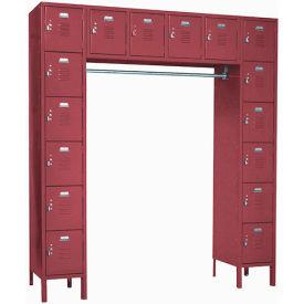 Penco 6579V-736KD VanGuard Locker 16 Person 72x18x72 16 Doors Ready To Assemble Burgundy