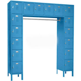 Penco 6579V-806KD VanGuard Locker 16 Person 72x18x72 16 Doors Ready To Assemble Marine Blue