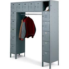Penco 68231X-028-SU Vanguard Locker 16 Person 72x18x72 16 Doors Assembled Gray