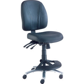 Interion™ Leather Stool - Manager Synchro Mechanism - 180° Footrest
