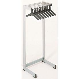 """48""""W Floor Rack With 16 Hangers - Gray"""