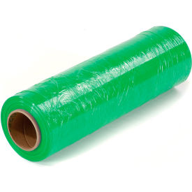 "Light Green Stretch Wrap 18"" x 1500' x 80 Gauge - Pkg Qty 4"
