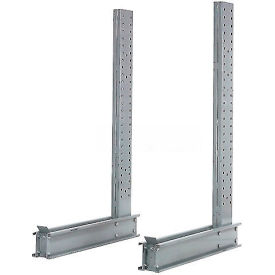 """Cantilever Rack Single Sided Upright, 50"""" D x 10' H, 10300 Lbs Capacity"""