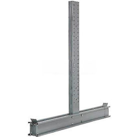 """Cantilever Rack Double Sided Upright, 107"""" D x 10"""" H, 17200 Lbs Capacity"""