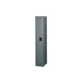 Tennsco Steel Locker STK-121272-A-MGY - Single Tier w/o Legs 1 Wide 12x12x72 Unassembled, Med. Grey