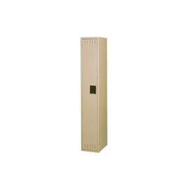 Tennsco Steel Locker STK-121272-A-SND - Single Tier w/o Legs 1 Wide 12x12x72 Unassembled, Sand