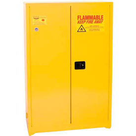 Eagle Paint/Ink Safety Cabinet with Self Close BiFold - 60 Gallon Yellow