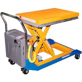 Vestil Battery Powered Mobile Scissor Lift Table CART-24-10-DC 48 x 24 1000 Lb.
