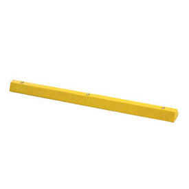 """Yellow Parking Curb with Hardware 72""""L x 4""""H x 6""""W"""