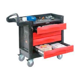 Rubbermaid® TradeMaster® 4513-88 4 Drawer 40 x 18 Mobile Workcenter