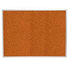 "Balt® Splash Cork Tackboard Aluminum Frame 60""W x 48""H Red"