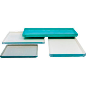 Molded Fiberglass Toteline Conveyor/Assembly Tray 303001 -13-1/4x10-5/8x1, Green - Pkg Qty 12