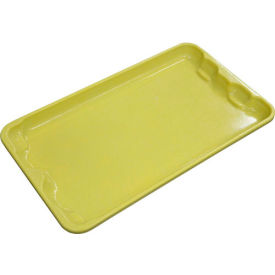 """Molded Fiberglass Toteline Nest and Stack Lid 780218 -17-7/8"""" x10""""- 5/8"""", Yellow - Pkg Qty 10"""