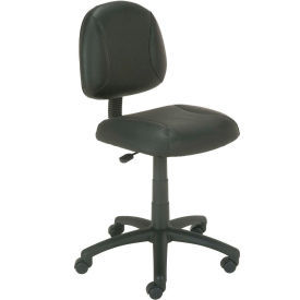 Task Chair - Leather - Black
