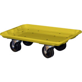 """Molded Fiberglass Toteline Dolly 780238 for 17-7/8"""" x10""""-5/8"""" x 5"""" Tote, Yellow"""