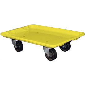 "Molded Fiberglass Toteline Dolly 780338 for 19-3/4"" x 12-1/2"" x 6"" Tote, Yellow"