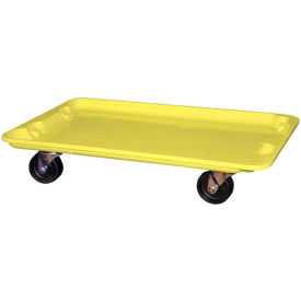 """Molded Fiberglass Toteline Dolly 780538 for 24-3/8"""" x 14-7/8"""" x 8"""" Tote, Yellow"""