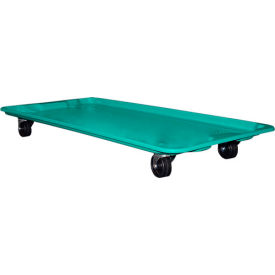 """Molded Fiberglass Dolly 780138 for 42-1/2"""" x 20"""" x 14-1/4"""" Tote, Green"""