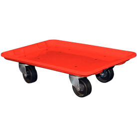 """Molded Fiberglass Toteline Dolly 780338 for 19-3/4"""" x 12-1/2"""" x 6"""" Tote, Red"""