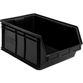 Quantum Plastc Stacking Bins - Parts Storage Bin QUS265 8-1/4 x 18 x 9 Black - Pkg Qty 6
