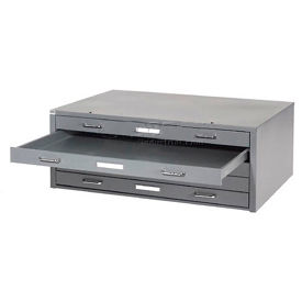 "Paramount® 54""W 5 Drawer Deluxe Flat File - Gray"