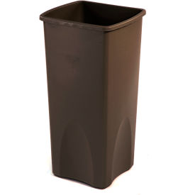 23 Gallon Square Rubbermaid Waste Receptacle - Brown