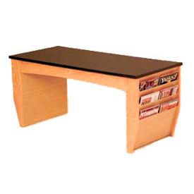 Coffee Table With Magazine Rack Light Oak