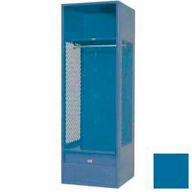 Penco 6KFD62-806 Stadium® Locker With Shelf & Footlocker, 33x24x72, Marine Blue, Unassembled